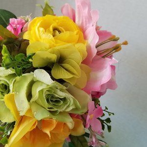 Handmade Accents - Lily , Ranunculus and Rose Bouquet